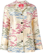 F.R.S For Restless Sleepers - jacquard blazer - women - Polyester/Viscose/Metallic Fibre - S