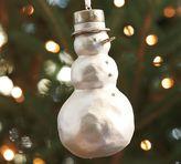 Papier Mache Snowman Ornament