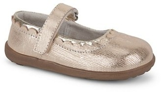 See Kai Run Little Girl's & Girl's Jane II Metallic Leather Mary Jane Flats