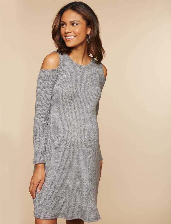 7ecb603275495 Maternity Knit Dress - ShopStyle