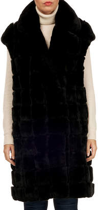 Gorski Rabbit Fur Notched-Collar Vest