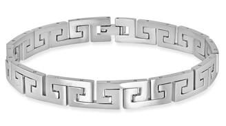 """Steel by Design 8"""" Greek Key Bracelet"""