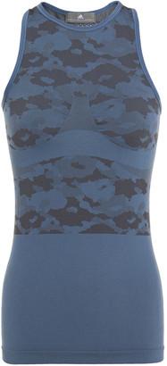 adidas by Stella McCartney Ess Sl Paneled Stretch-jacquard Tank