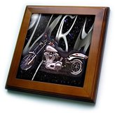 Harley-Davidson 3dRose LLC ft_145_1 Framed Tile Picturing Motorcycle