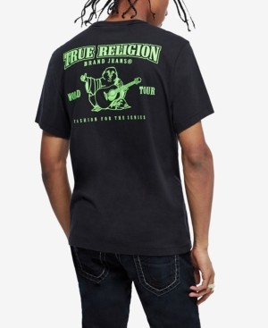 True Religion Men's Neon Buddha Logo Tee