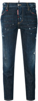 DSQUARED2 denim cropped straight jeans - women - Cotton/Polyester/Spandex/Elastane - 36