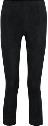 Vince Cropped Suede Slim-leg Pants