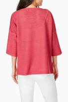 Foxcroft Kim Textured Knit 3/4 Sleeve Top