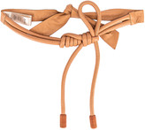 Johanna Ortiz Antiquary Conservation Leather Belt in Tan | FWRD