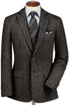 Classic Fit Charcoal Lambswool Hopsack Wool Jacket Size 38
