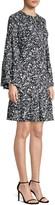 Michael Kors Silk Peasant Dress