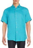 Robert Graham Regular-Fit Double Tap Linen Sportshirt