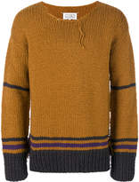 Maison Margiela distressed knit striped sweater