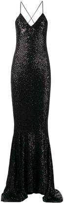 Norma Kamali Sequinned Fitted Gown