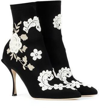 Dolce & Gabbana Stretch-jersey ankle boots