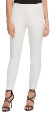 DKNY Slim Leg Cotton Pant with Side Zip