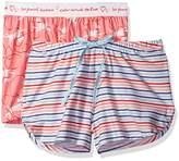 Hue Women's Pajama Shorts (2 Pack) Hoops Fusion Stripe