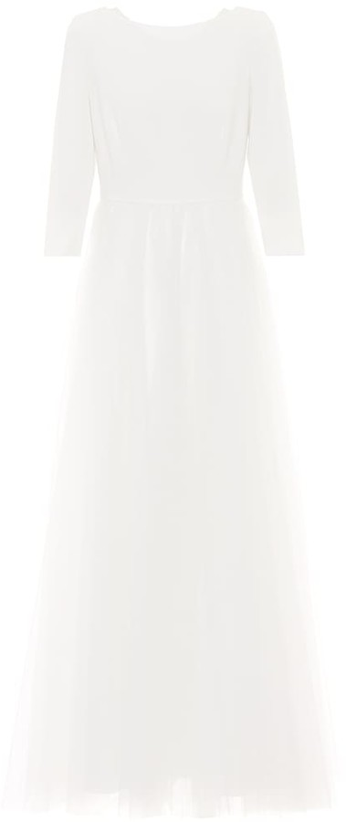 Max Mara Leader tulle-trimmed bridal gown