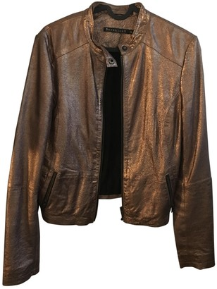 Berenice Gold Leather Jacket for Women