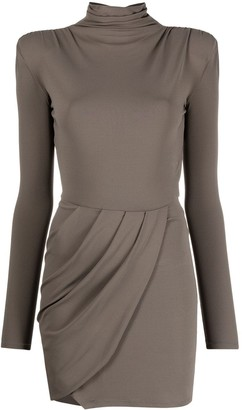 Patrizia Pepe Draped Front Jersey Dress