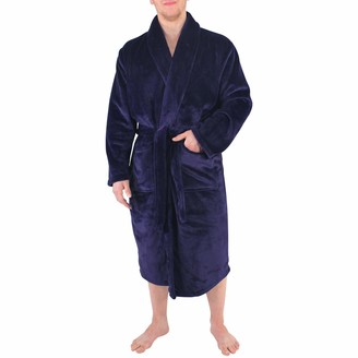 Hudson Baby Adult's Hudson Collections Mens and Unisex Shawl Collar Plush Robe