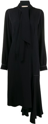 Marni Draped Neckline Asymmetric Dress