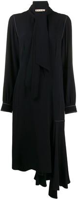 Marni draped neckline asymmetric dress