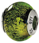 Green & Black Prerogatives Sterling Green/Black Italian Murano Glass Bead