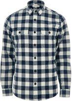 River Island Mens Blue twill check shirt