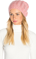 Hat Attack Rib Slouchy Beret in Pink.