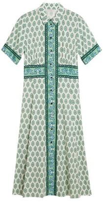 Sandro Paris Shirt Midi Dress