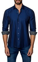 Jared Lang Men's Trim Fit Solid Sport Shirt