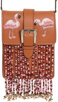 RED Valentino Flamingo Leather Bag W/ Beaded Fringe