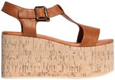 Jeffrey Campbell 90mm Weekend Leather & Cork Wedges
