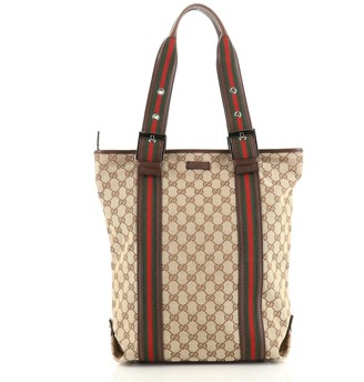 Gucci Belted Web Handle Tote GG Canvas Tall