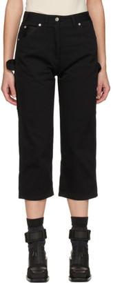 MM6 MAISON MARGIELA Black Cropped Work Jeans