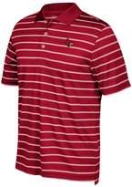 adidas Men's Louisville Cardinals Striped Golf Polo