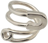 twisted safety pin ring