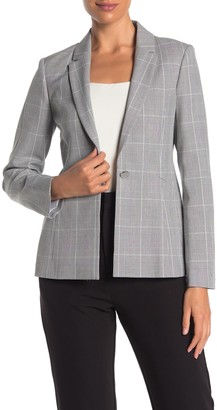 Ted Baker Contrast Check Print Tailored Jacket