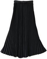 Norwaya Women's Pleated Retro Maxi Long Skirt One