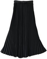 Norwaya Women's Pleated Retro Maxi Long Skirt