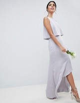 Asos DESIGN Pearl Trim Crop Top Maxi Dress