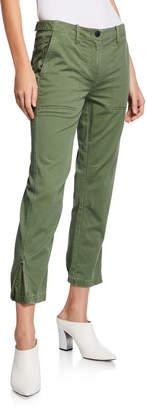Derek Lam 10 Crosby Cropped Utility Pants w/ Elastic Cuffs