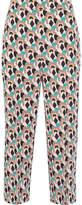 Prada Cropped Printed Silk Crepe De Chine Straight-leg Pants - IT38