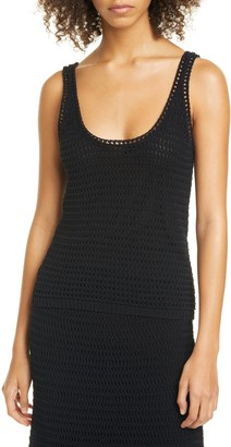 Vince Crochet Cotton Blend Tank