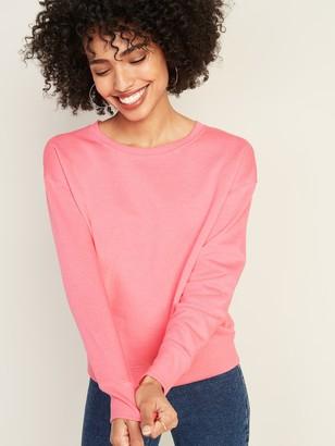 Old Navy Loose Crew-Neck Sweatshirt for Women