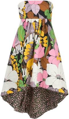 La DoubleJ Strapless Floral-Print Dress