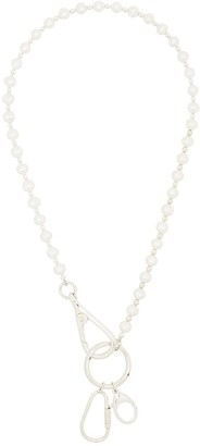 Hatton Labs Carabiner Pearl Necklace