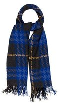Burberry Houndstooth Wool & Cashmere Scarf