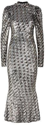 Rachel Gilbert Emory Tie Back Sequin Dress